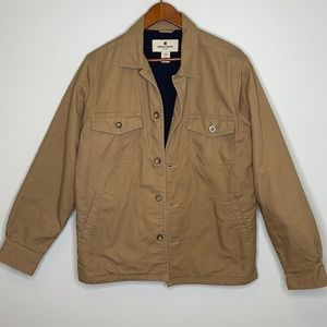 WOOLRICH camel lined cotton buttoned barn jacket M